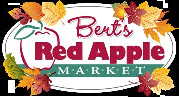 berts red apple fall logo